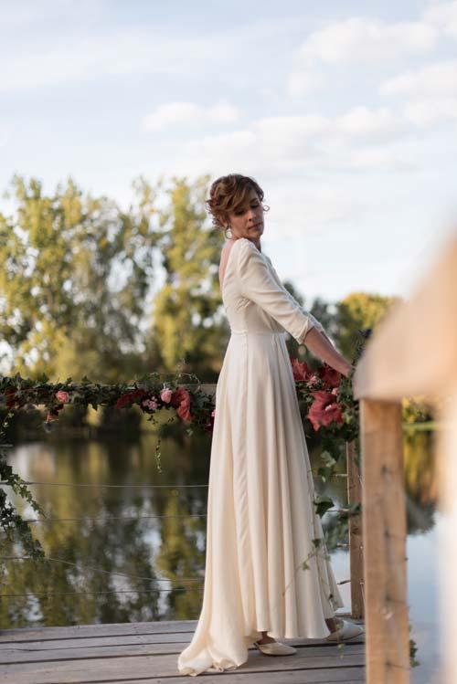 Organisation de mariage à Tours - Mariée sur un ponton