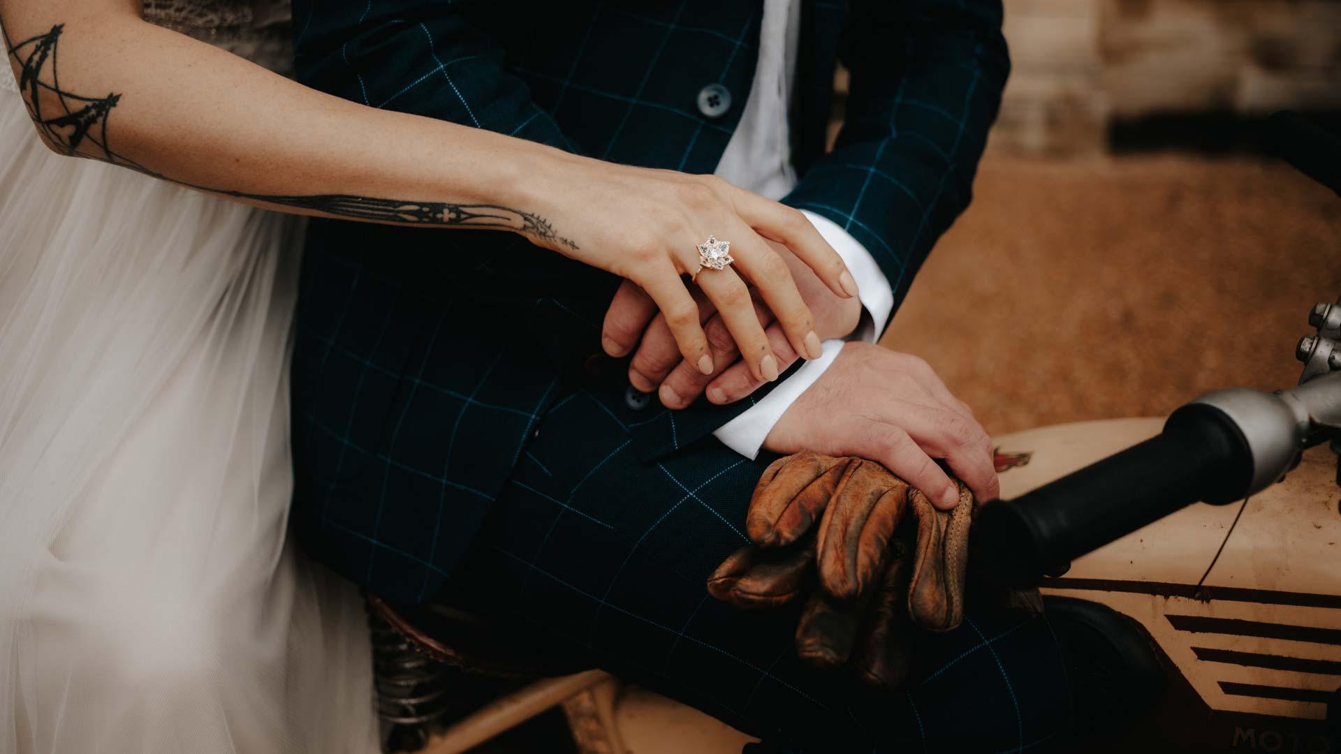 couple à moto - Wedding planner